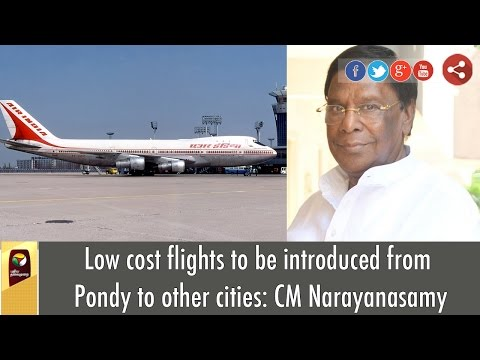 Low-cost-flights-to-be-introduced-from-Pondy-to-other-cities-CM-Narayanasamy