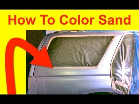 How To Color Sand and What Sand Paper Grits To Use