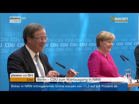 Landtagswahl Nordrhein-Westfalen: Pressekonferenz v ...