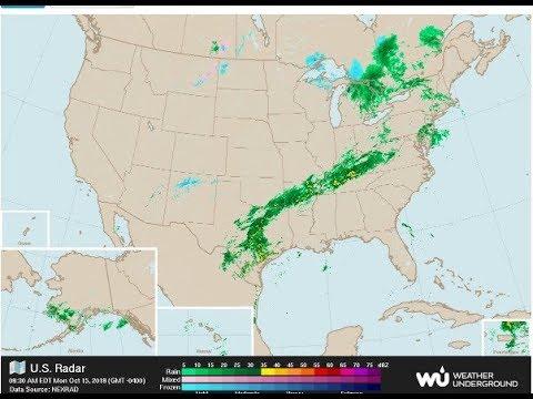 2018 October USA Weather Radar Time Lapse Wunderground