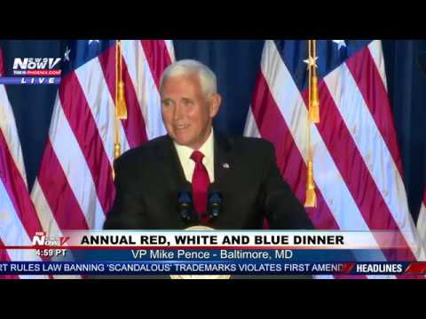AMERICA IS WINNING AGAIN VP Pence speaks at annual red, white amp blue dinner