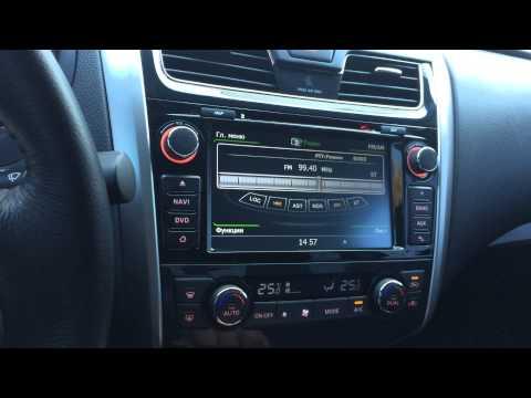 Штатное головное устройство Nissan Teana 2013-