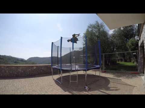Video Montaggio Trampolino da Giardino