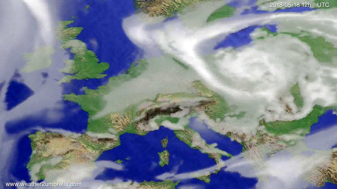 Cloud forecast Europe 2018-05-14