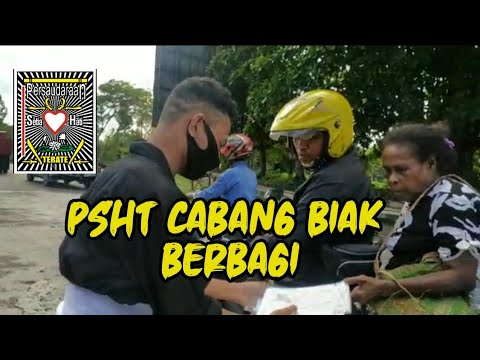 PSHT Cabang Biak Berbagi Masker Gratis  ||  #pshtbiak