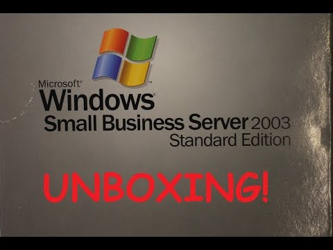 Unboxing Windows SBS server 2003 - Standard edition
