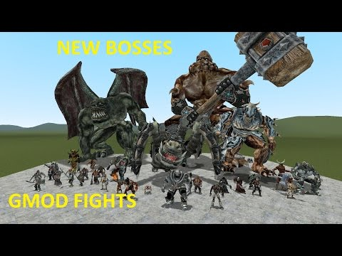 GMOD FIGHTS: NEW GIANT EPIC MONSTER BOSSES NPCS (видео)