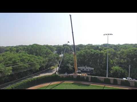 FDSH Dodgers' Ed McNeil Baseball Field light installation {aerial}