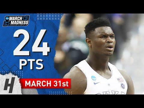 Zion Williamson Full Highlights Duke vs Michigan 2019.03.31 - 24 Pts, 14 Reb, 3 Blocks! - Thời lượng: 3:39.