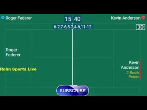 FEDERER R. vs ANDERSON K. Live Now Wimbledon 2018 - Score