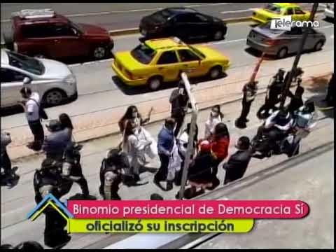 Binomio presidencial de Democracia Sí oficializó su inscripción