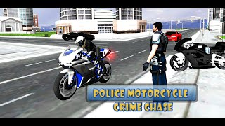 Police Motorcycle Crime Chase