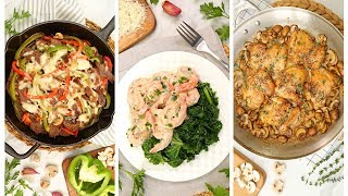 3 Low Carb Dinner Recipes | Quick + Easy Weeknight Dinner Ideas by The Domestic Geek