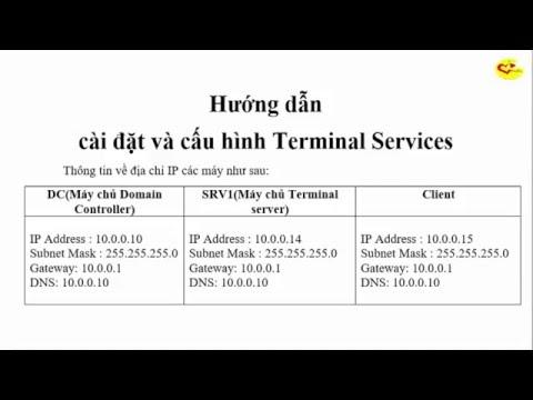 Hướng dẫn cài đặt và cấu hình Terminal Services trên windows server 2008