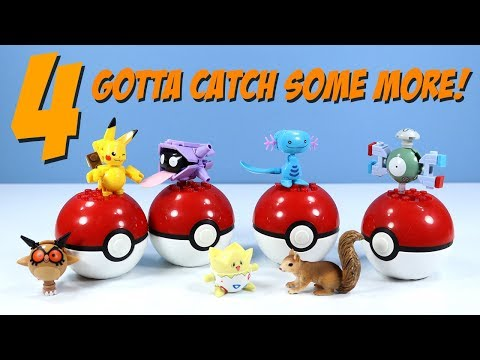 MEGA Construx Pokemon Series 4 Magnemite Togepi Wooper and More Review (видео)