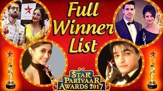 Nonton Star Parivaar Awards 2017 Winners List   Divyanka   Mohsin   Surbhi   Shivangi   Tellymasala Film Subtitle Indonesia Streaming Movie Download