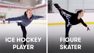 Video Hockey Players Try To Keep Up With Figure Skaters | SELF download in MP3, 3GP, MP4, WEBM, AVI, FLV January 2017