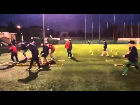 Calcio: esercitazioni propriocettive / sensoriali / rapidità con speed-ladder