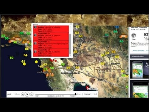 Julian CA.Quake Swarm! Tsunami Warning.Remote Viewers Hit!
