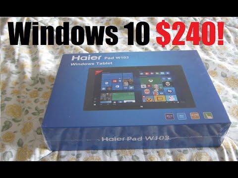 Haier Pad W103 Windows Tablet/Laptop Unboxing