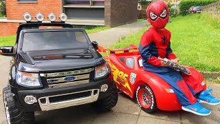 Video Spider-Man Conduit Voitures Cars Lightning McQueen et Ford Ranger MP3, 3GP, MP4, WEBM, AVI, FLV Juni 2017