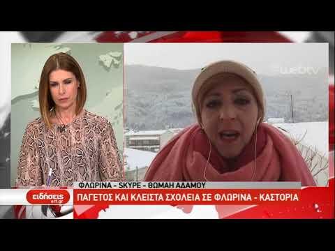 Παγετός και κλειστά σχολεία σε Φλώρινα και Καστοριά | 7/1/2019 | ΕΡΤ