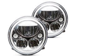 The Vision X Vortex LED Headlight has a buil-in halo and the housings comes in black or chrome, and different sizes for different vehicle applications. Get pricing and more details here:https://headlightrevolution.com/headlights/replacement-headlight-housings/vision-x-headlight-housings/The Vision X Vortex is great for the Jeep Wrangler, semi-trucks, classic cars, motorcycles and many european/japanese vehicles with round sealed beam headlight housings. Contact us for details if this headlight will work for you!