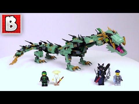 LEGO Ninjago Movie Green Ninja Mech Dragon Set 70612 | Unbox Build Time Lapse Review