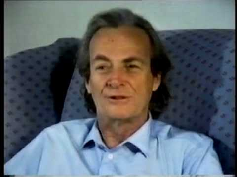 mirror - Richard Feynman amuses himself with an old puzzle - why do mirrors seem to switch left and right, but not top and bottom? From the BBC TV series 'Fun To Imag...