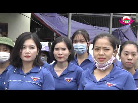 Công trình đường hoa thanh niên chào mừng Đại hội Đảng bộ tỉnh Nghệ An lần thứ XIX