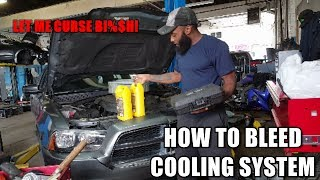 So I replaced the heater hoses in this 2013 Dodge Charger and after letting the engine run for 15 mins I noticed it was overheating.......basically I have air in the system. A quick bleed and I'm all good!Vacuum refiller can be bought anywhere online.SUBSCRIBE HERE https://www.youtube.com/my_videos?o=U*Please be aware that I am not responsible for you actions in any type of way. If you get injured during the job or damage other parts including the engine I'M NOT RESPONSIBLE! Always work with safety and please do your research