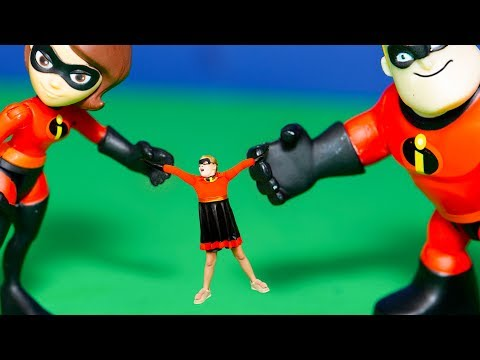 Incredibles 2 helps the Assistant get Super Powers with Jack Jack and Elastigirl and Vampirina