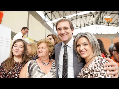 O Presidente do PSD, Pedro Passos Coelho, no convívio das MSD em Ermesinde, Valongo