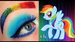 My Little Pony's Rainbow Dash Makeup Tutorial - YouTube