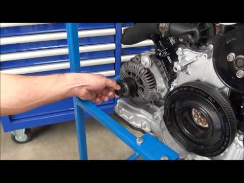 how to remove alternator pulley
