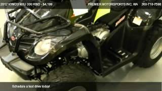 8. 2012 KYMCO MXU 300 RWD ATV w/ reverse - for sale in VANCOUVER, WA 98665