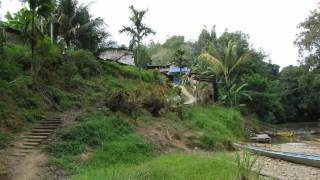 2. Iban headhunter village on Borneo