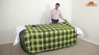 Спальник-одеяло c подголовником для кемпинга и туризма. Alexika Siberia Plus