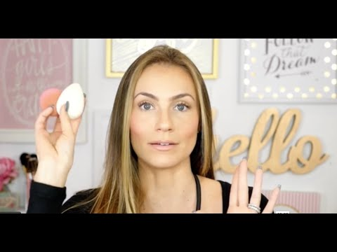 Angela Lanter uses beautyblender pure + REN skincare in everday makeup routine