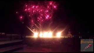 Flammenshow mit Lichterbildern und Pyrofontänen zur Hochzeit