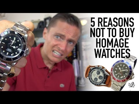 5 Reasons NOT To Buy A Homage Watch - Are Steinhart, Parnis, Invicta & Alpha A Waste Of Money? (видео)