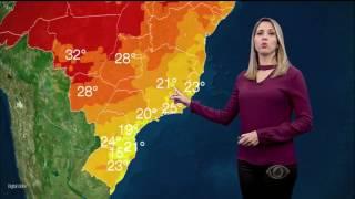 A massa polar responsável pela queda das temperaturas na região Centro-Sul do país perde força. Porém a próxima madrugada ainda promete esfriar e o mar segue...