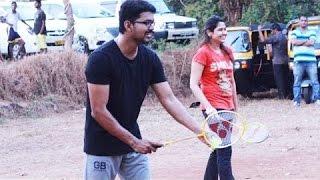 Vijay 59 Shooting Spot: Ilayathalapathy Vijay and Atlee playing Badminton Kollywood News 25/11/2015 Tamil Cinema Online