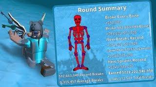 I BROKE OVER 500 MILLION BONES!! | Broken Bones 4 | Roblox
