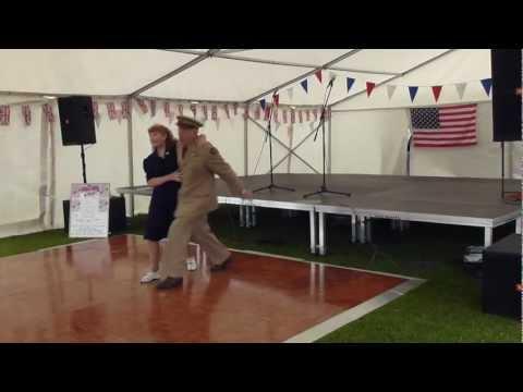 G.I jive 40s swing dancers
