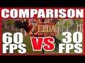 COMPARISON   Zelda: BOTW   60 fps VS 30 fps!!! (Nintendo Switch)