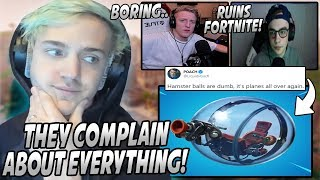 Ninja Responds To The Pro Players COMPLAINING About The Hamster Balls RUINING Fortnite!