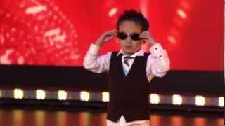 Tristan  (4 years)  dances Gangnam style in Belgium's Got Talent