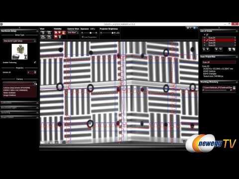 DAVID VISION Structured Light 3D Scanner Overview - Newegg TV