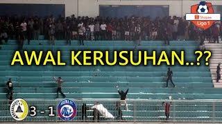 Ulah Provokator? Ini Suasana Awal Kerusuhan Suporter PSS Sleman Vs Arema FC Shopee Liga 1 Indonesia